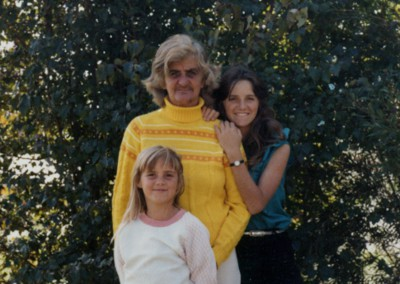 Sam aged 16 with her mother and sister