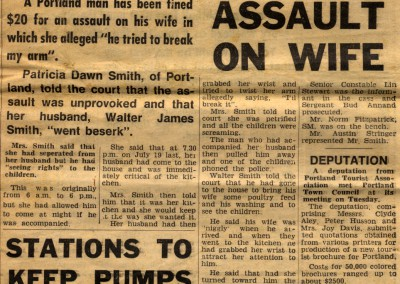 Newspaper articles with regards to Sam's father